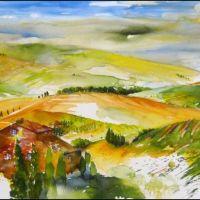 Mischtechnik auf Leinwand<br />        Toscana                         50x100          Fr. 900